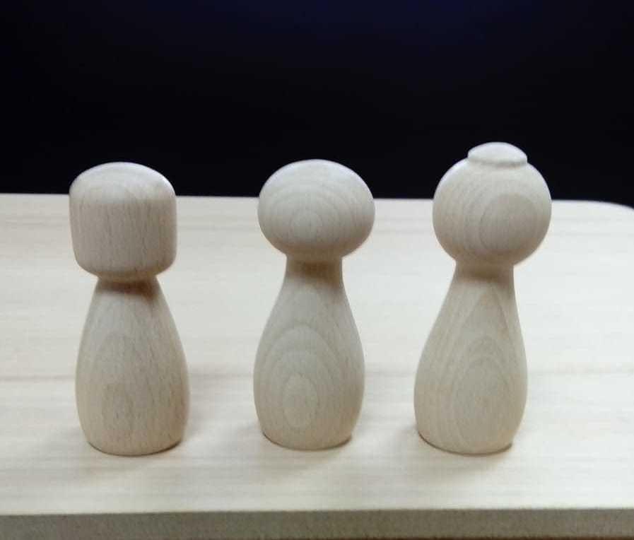 Piezas de madera torneadas
