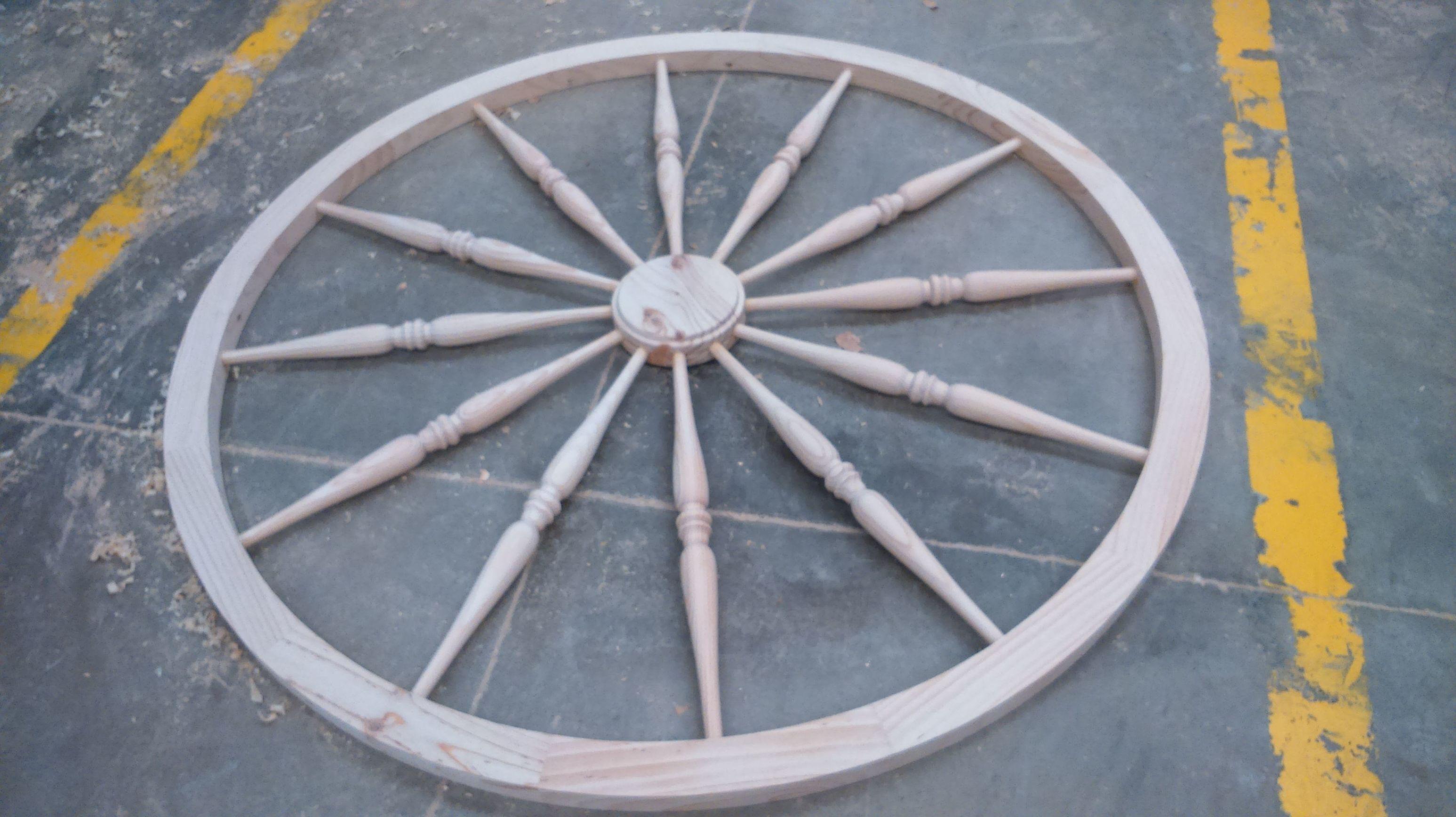 Lampara rustica de madera