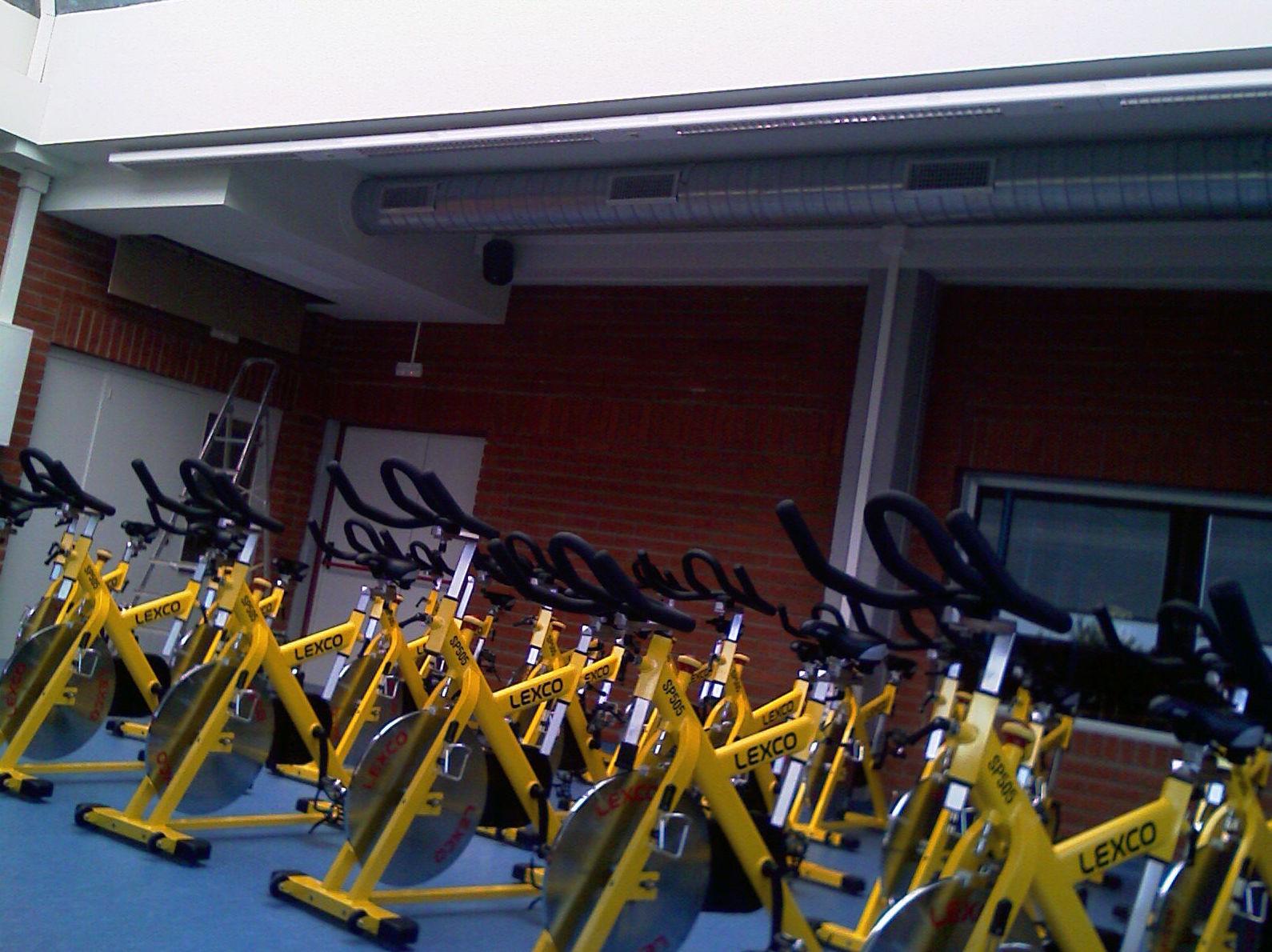 Montaje aire en gimnasio