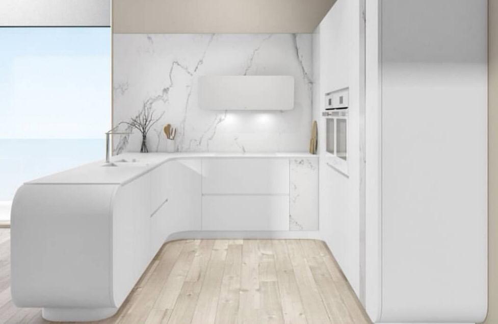 diseño cocina blanca Navarra