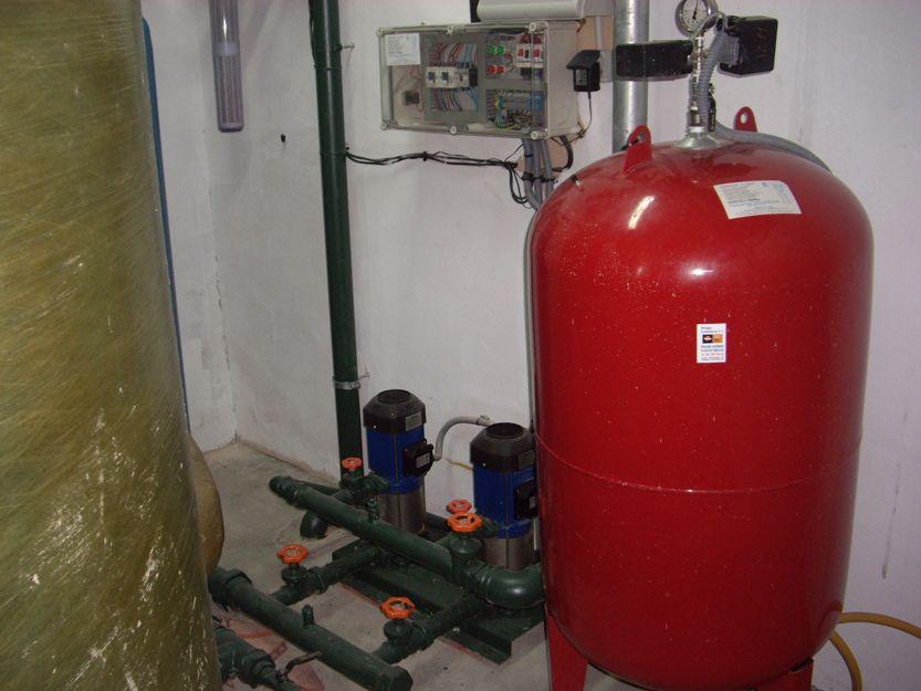 Mantenimiento de calderines, bombas de presión...