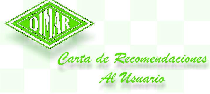 CARTA DE RECOMENDACIONES AL USUARIO