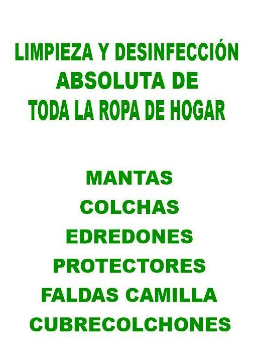 LIMPIEZA DE EDREDONES, MANTAS, ETC....: Servicios de Tintorerías Dimar