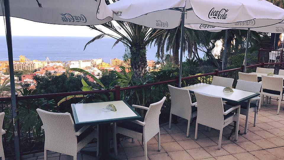 Terraza con espectaculares vistas al mar en Puerto de la Cruz