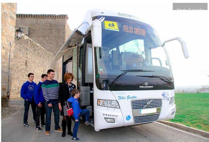 Transporte escolar: Servicios de Autocares Félix Gastón