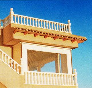 Toldo cortina de caída vertical