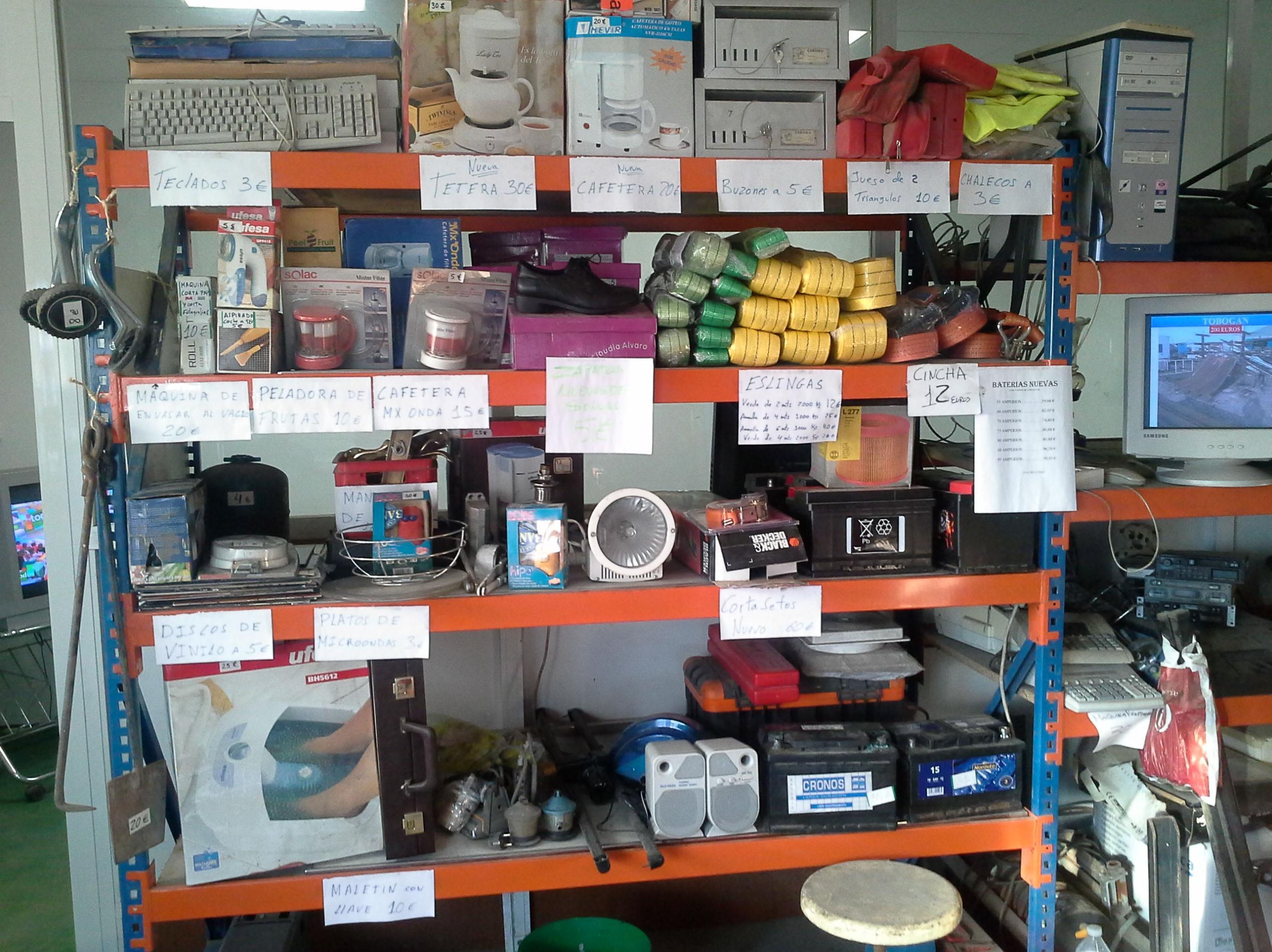 Venta de objetos nuevos y usados de ocasion en Chatarras Clemente de Albacete