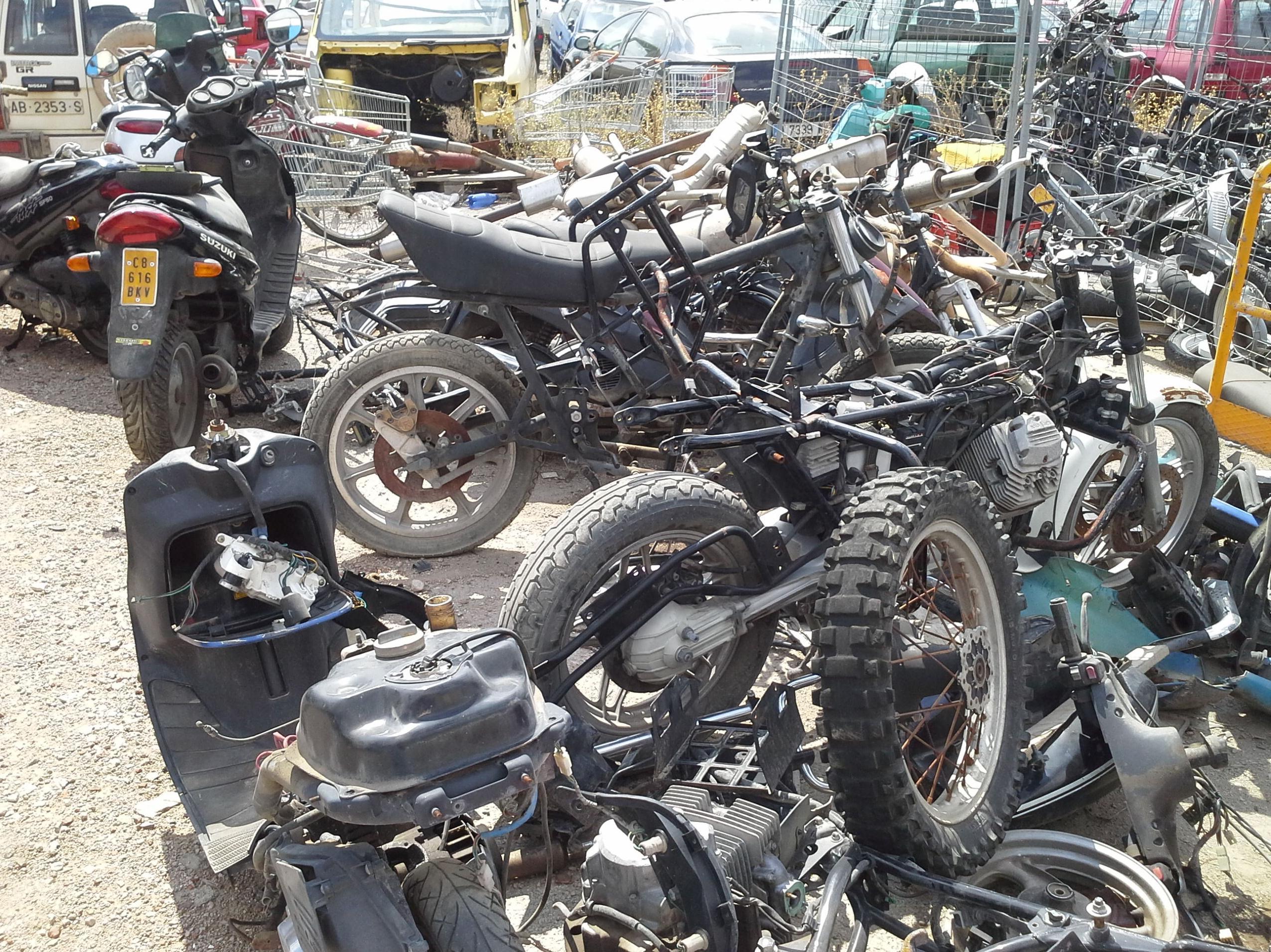desguace de motos en villarrobledo