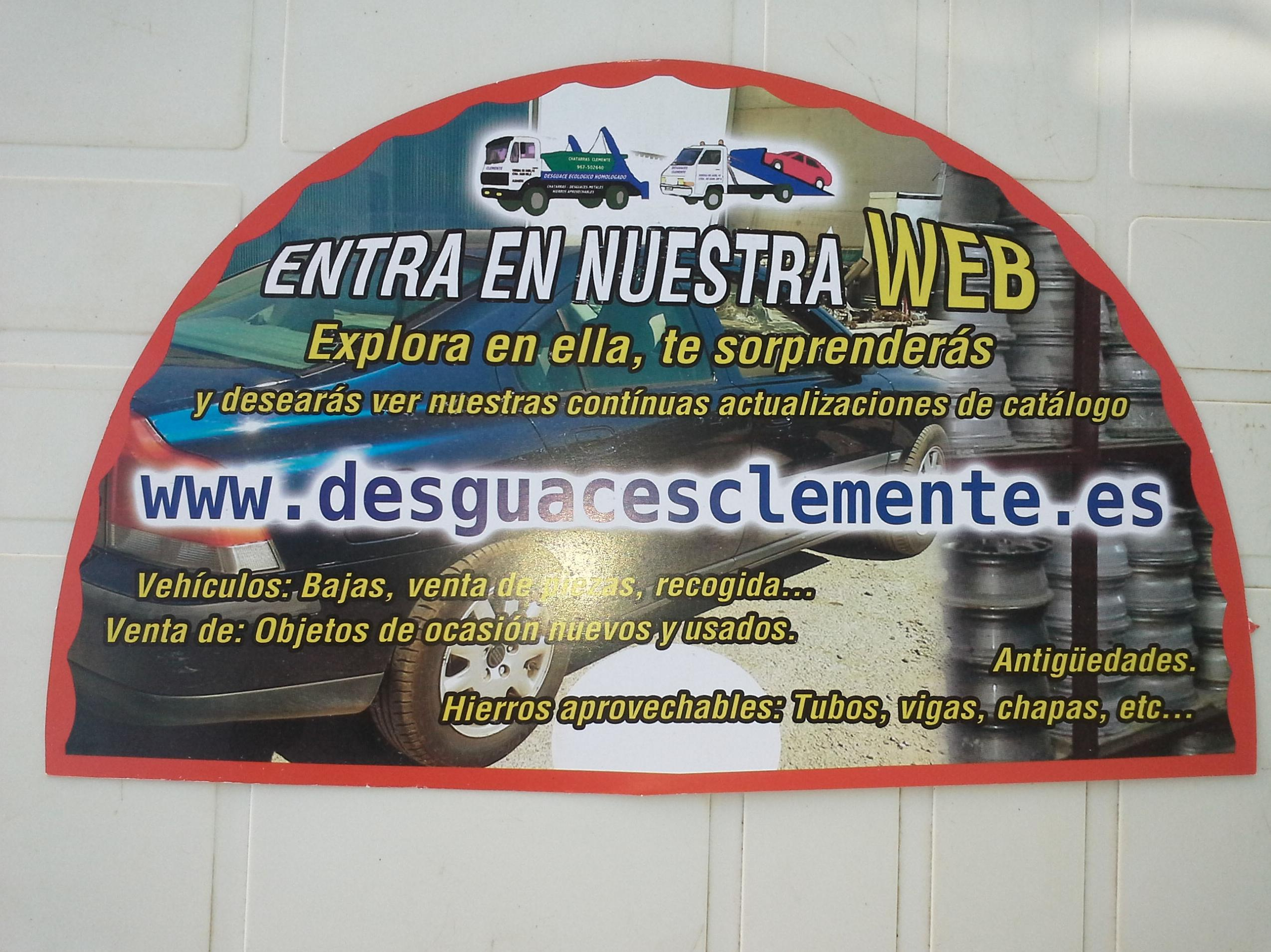 Abanicos de Desguaces Clemente entregados en la feria de Albacete 2014