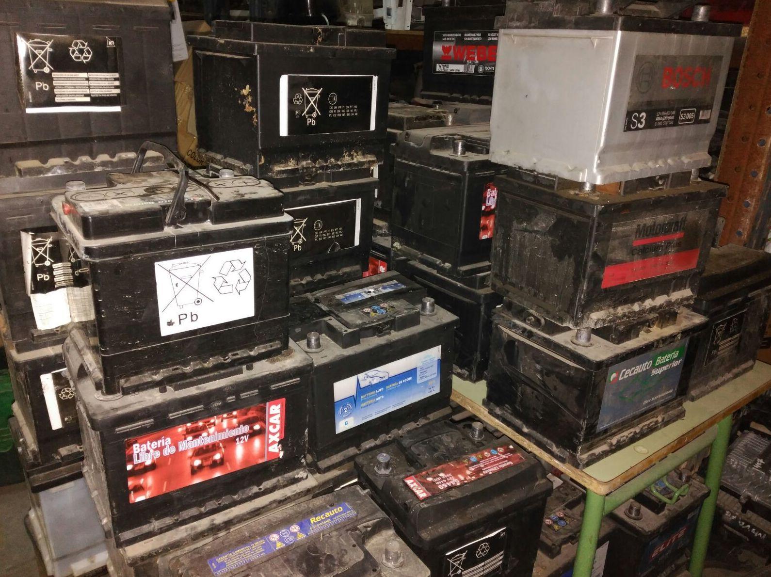 Venta de baterías usadas en buen estado