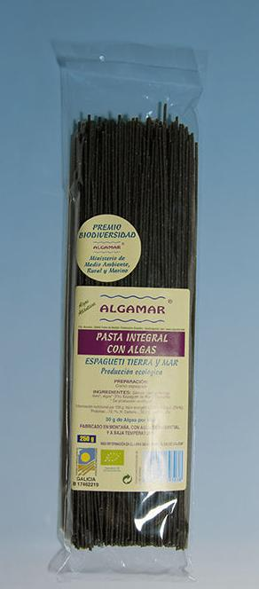 ESPAGUETI, pasta integral con algas, ALGAMAR, : Catálogo de La Despensa Ecológica