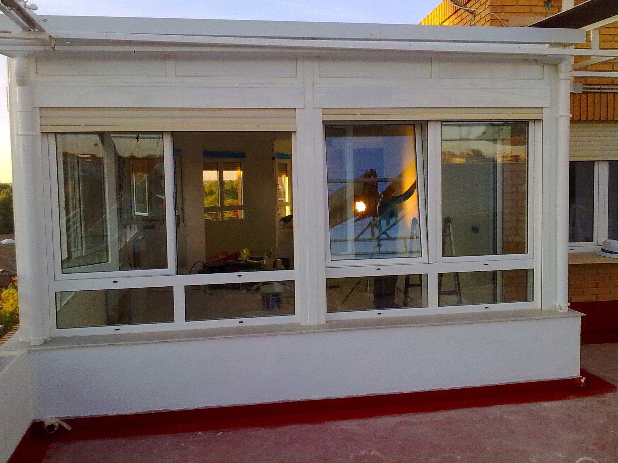 Trabajo realizado, terraza cubierta