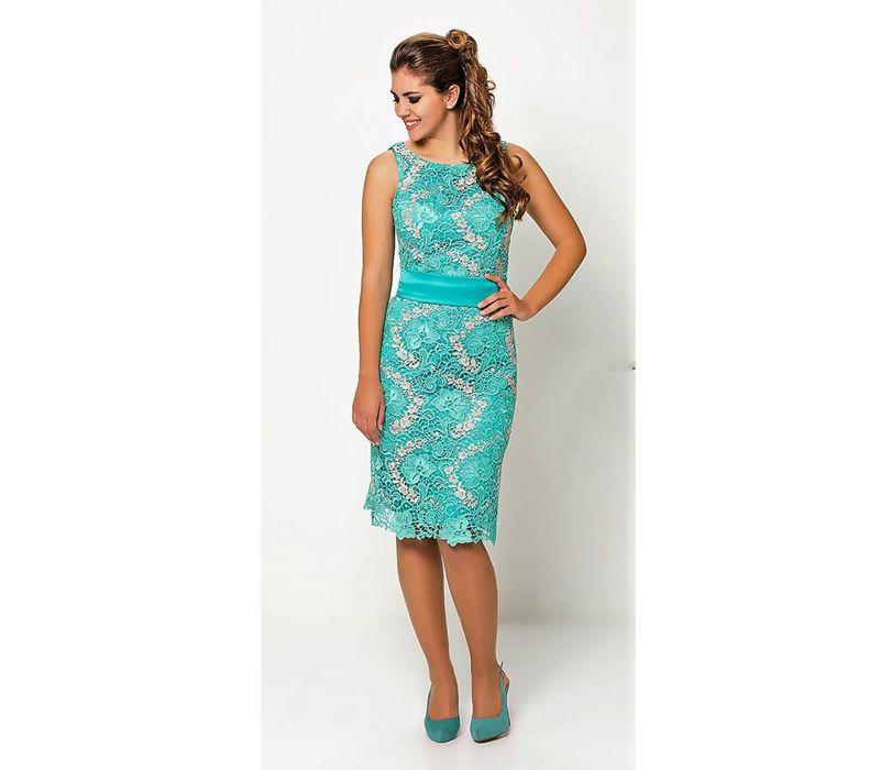 Vestido de madrina color verde agua