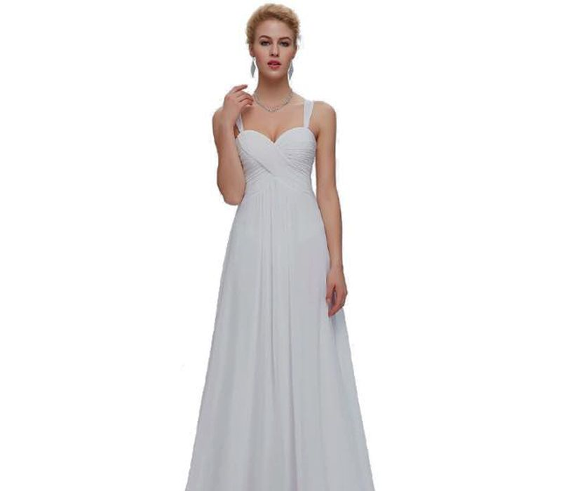 Vestido blanco largo de tirantes