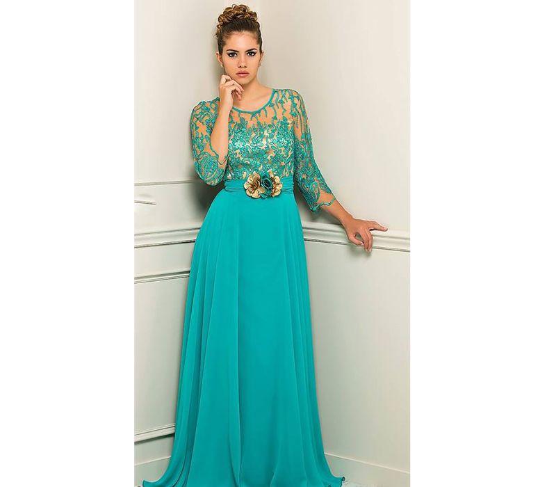 Vestido tallas 46 - 60 Colores: turquesa, azulón y fucsia