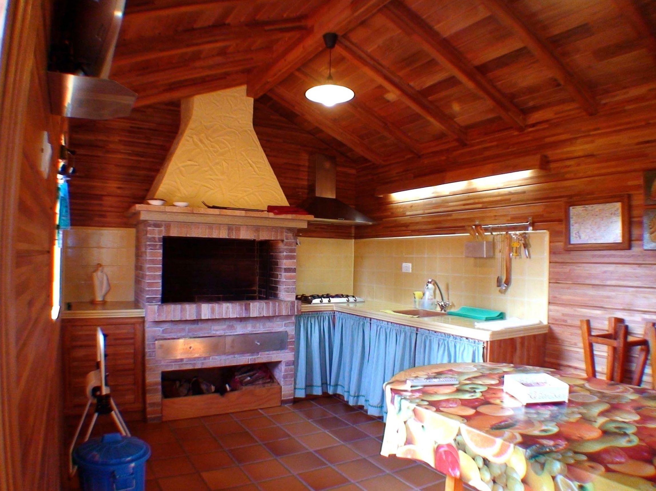 wood garden cabin Cabaña madera Jardín