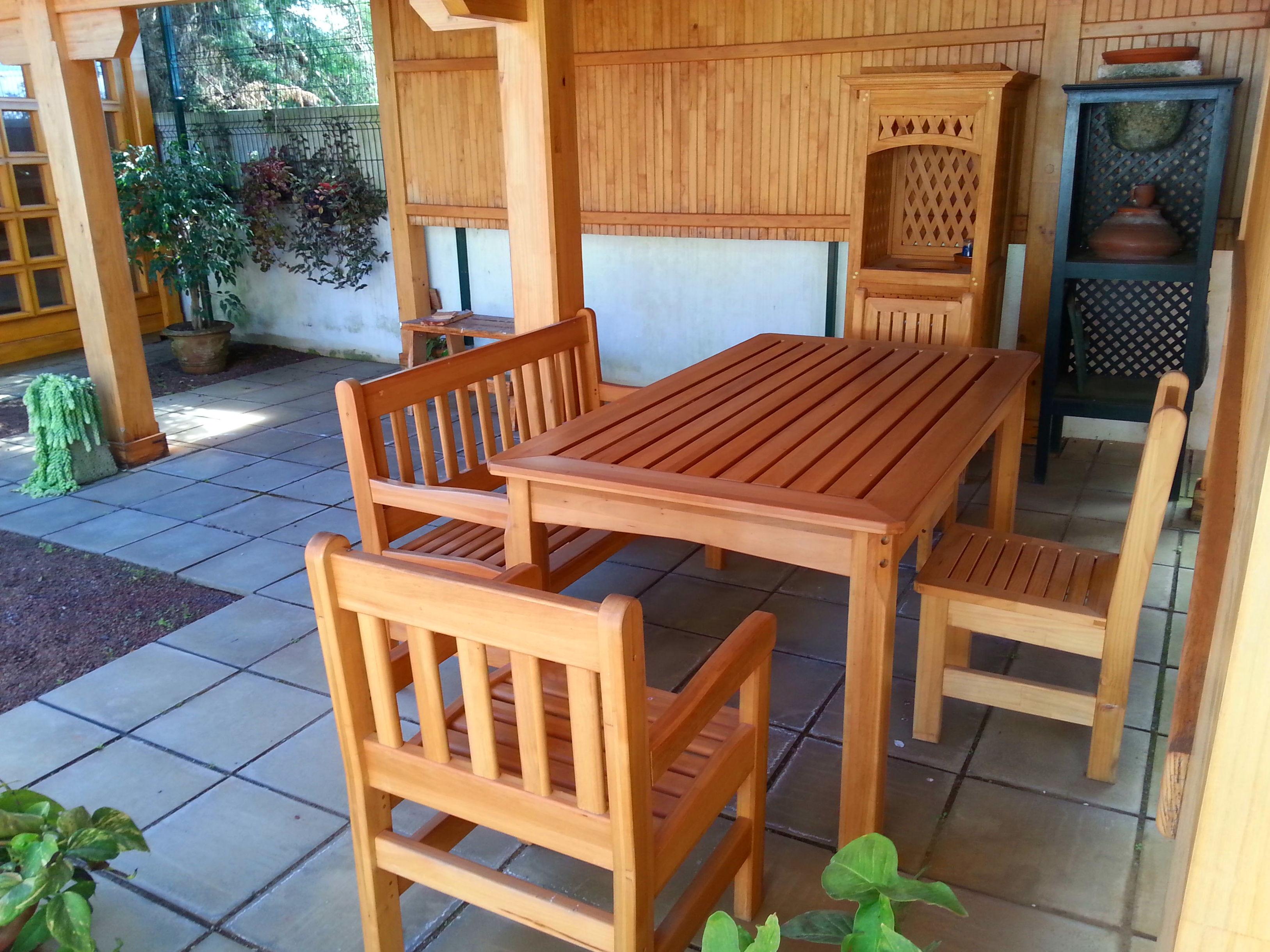 Muebles de Jardín Madera Maciza