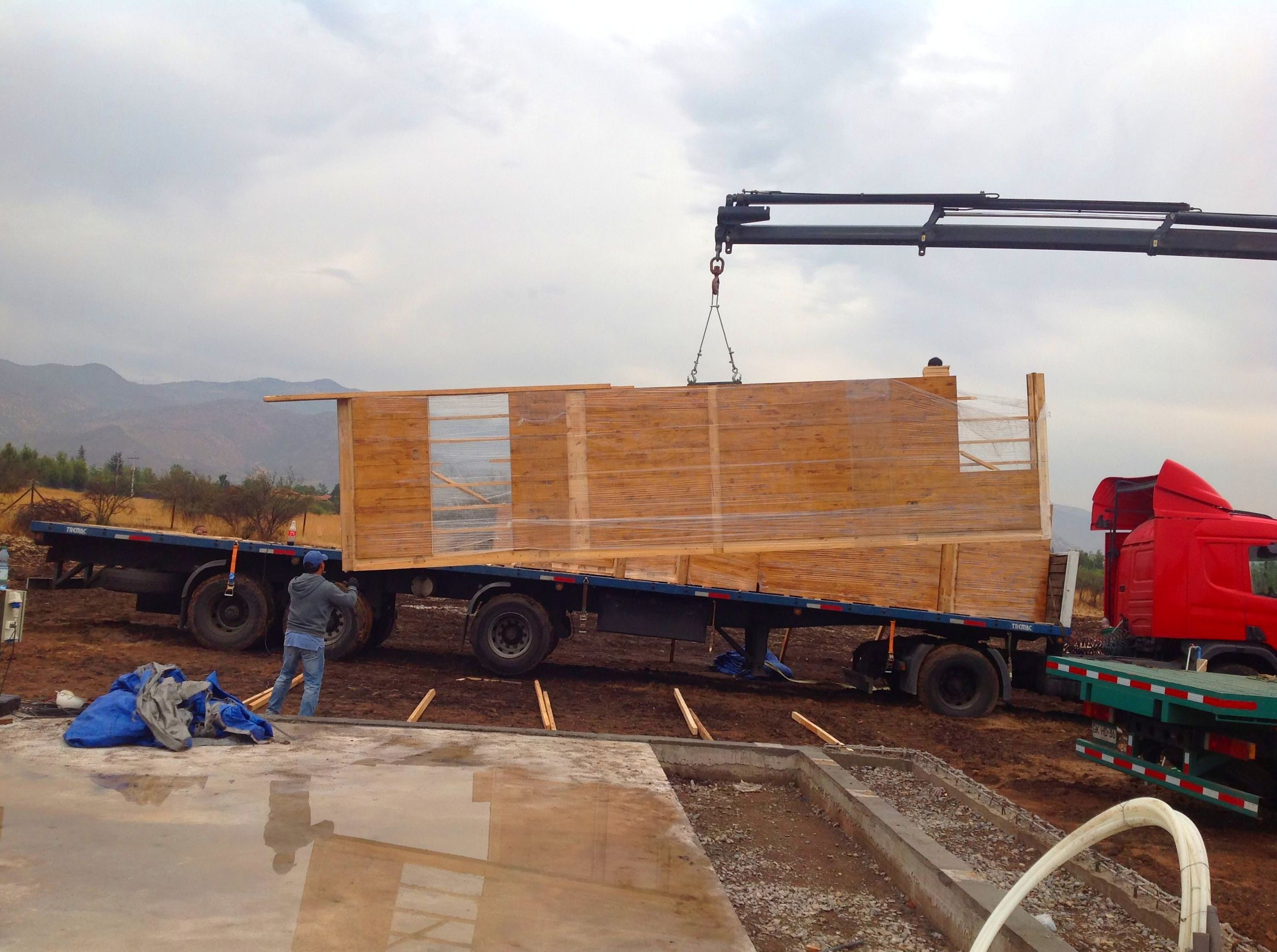 Comienzo de obra en madera contralaminada en Santiago