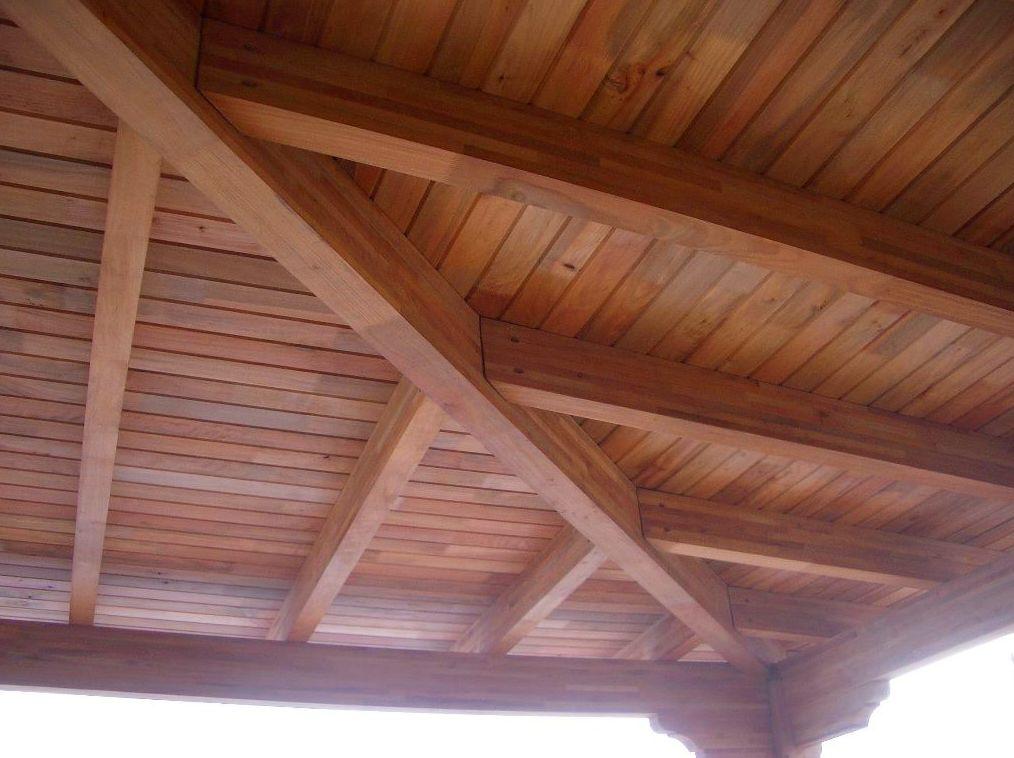 montaje de techos de madera