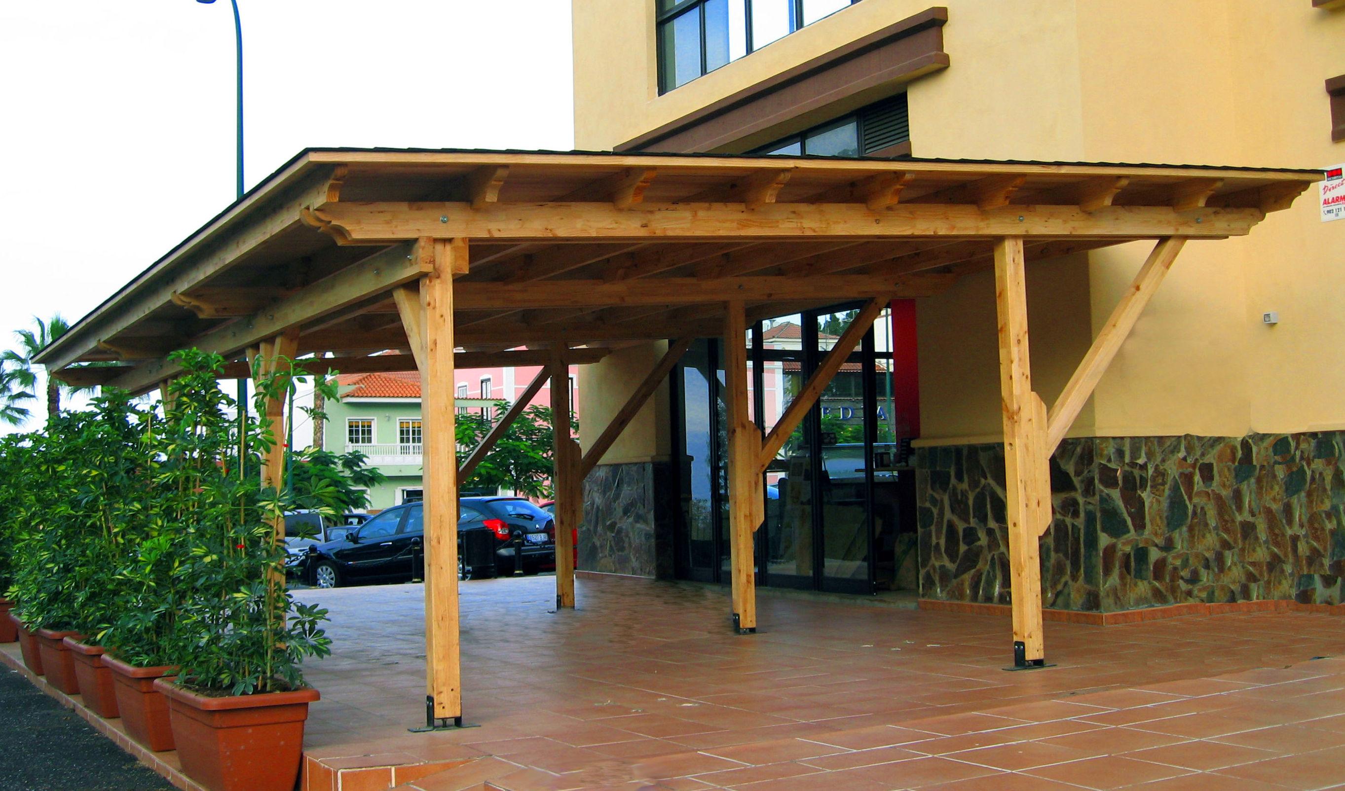 Garaje modular madera 2 plazas Cortelima