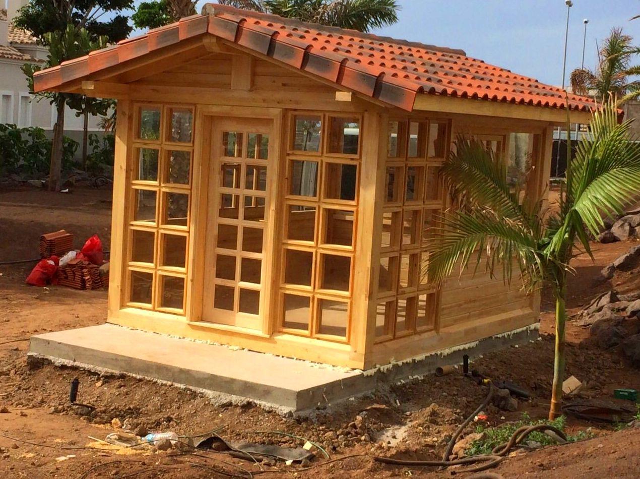 Foto 11 de casas de madera en tacoronte cortelima for Cabanas para jardin
