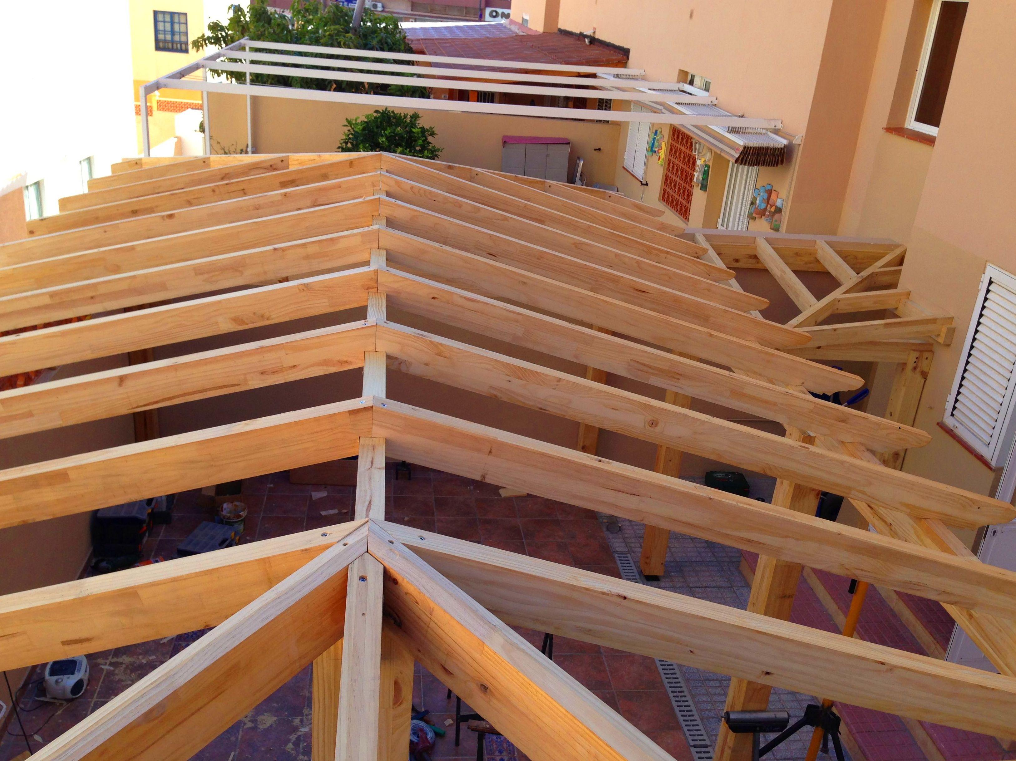 Pergolas madera Tratada