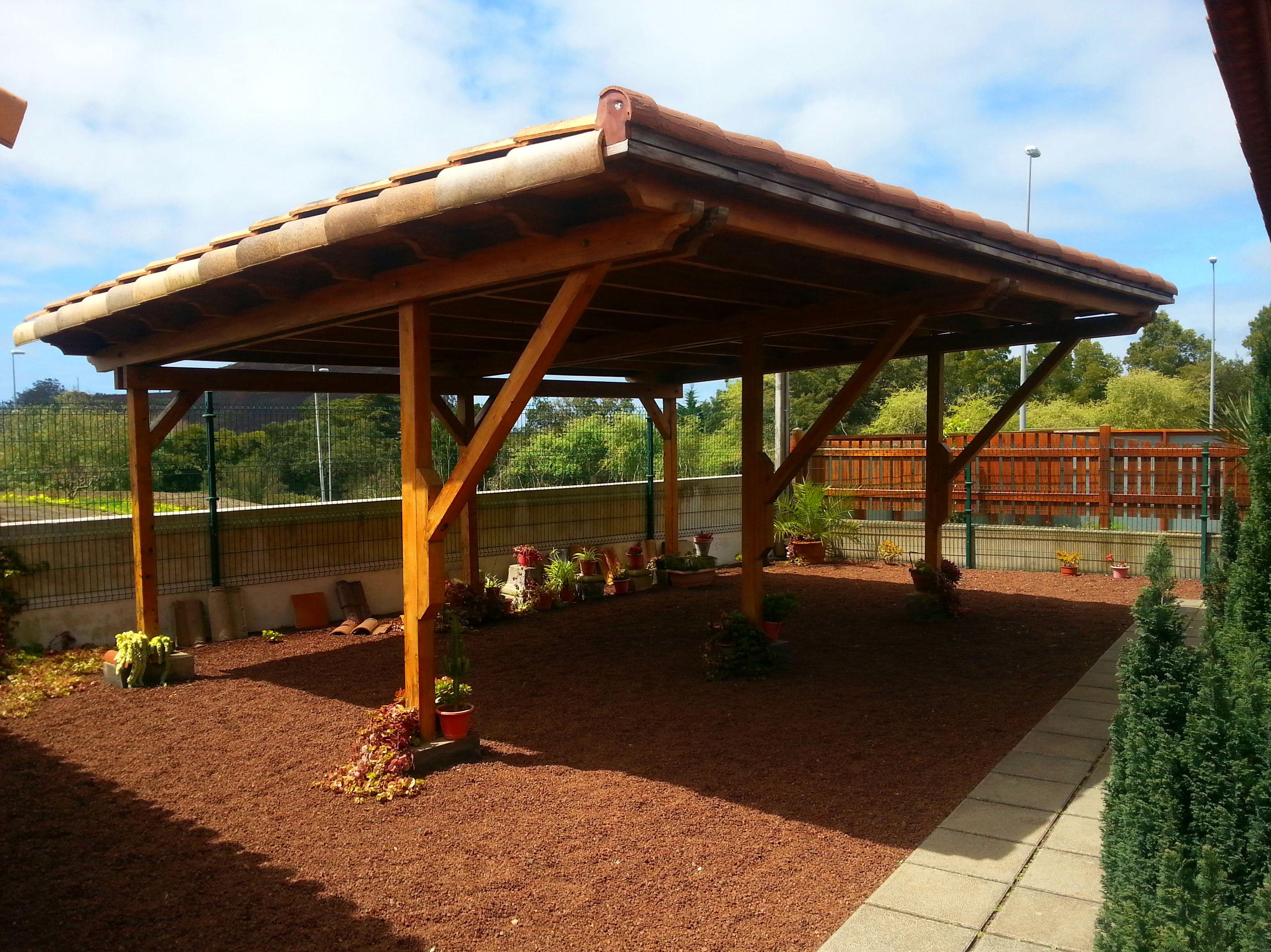 wood Carport Garaje de madera
