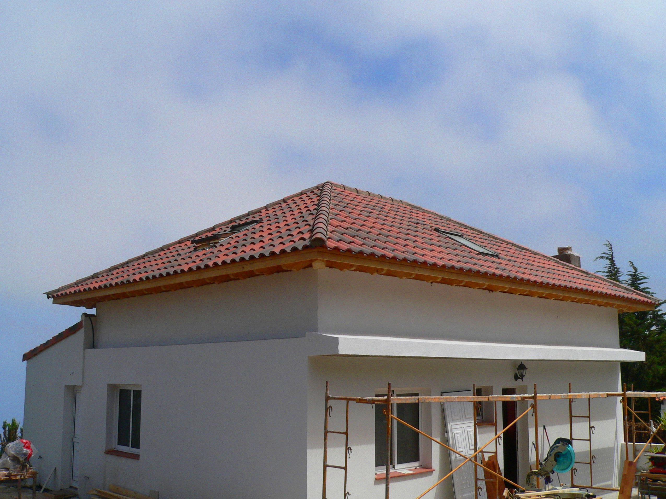 Cubierta techo madera con Velux