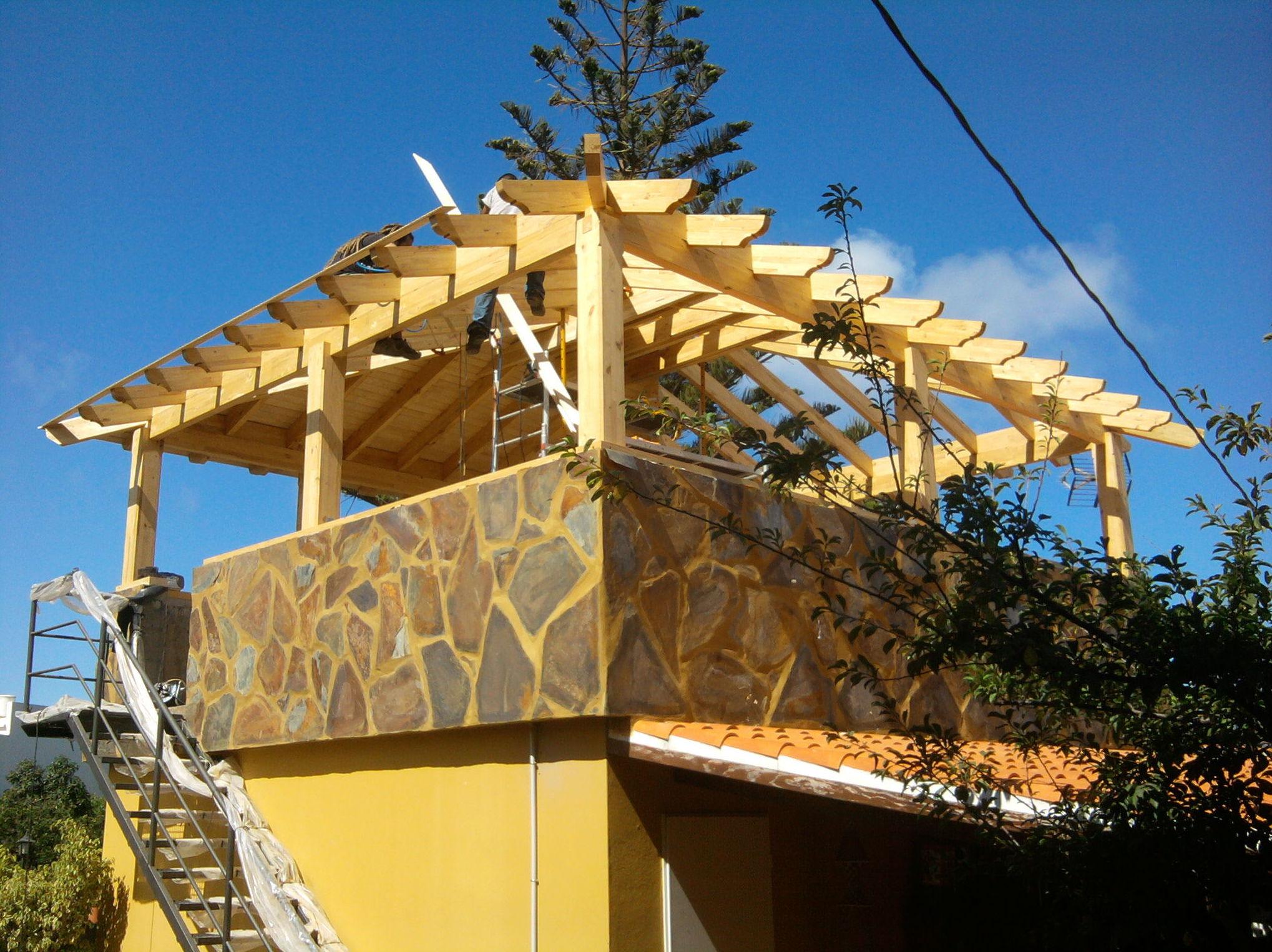 ampliación madera cuarto azotea