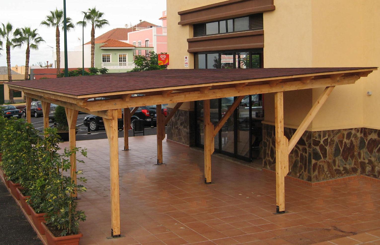 Garaje Abierto  wood  Carport Tenerife