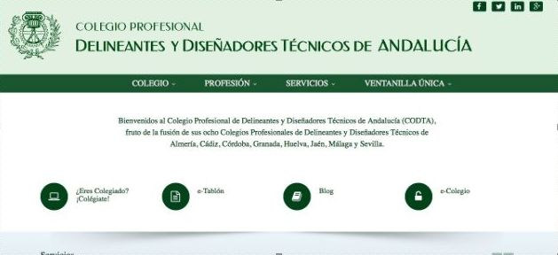 Convenio con el Colegio Profesional de Delineantes y Diseñadores Técnicos de Andalucía.