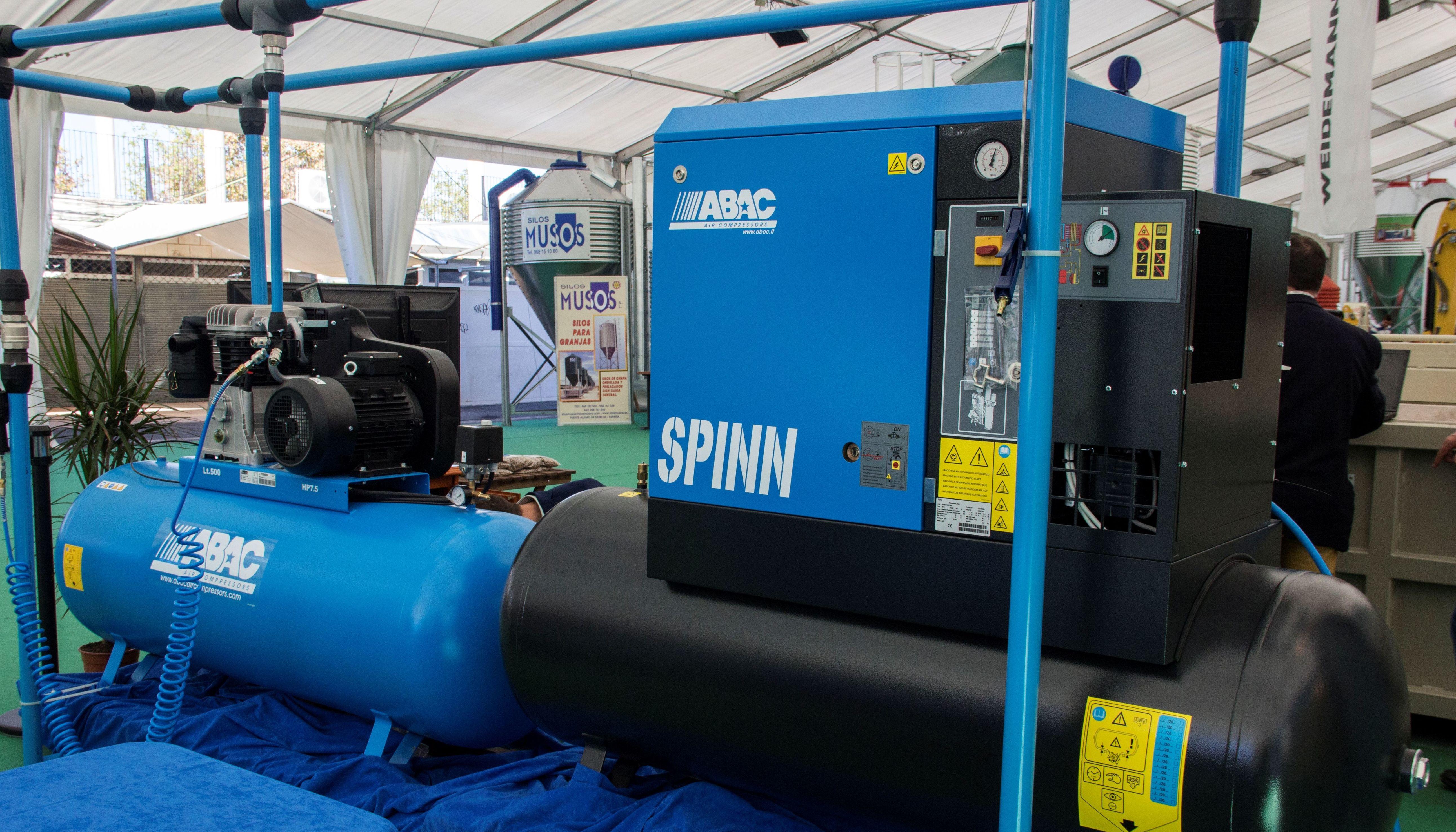 Compresores de aire comprimido tanto de pistón como de tornillo