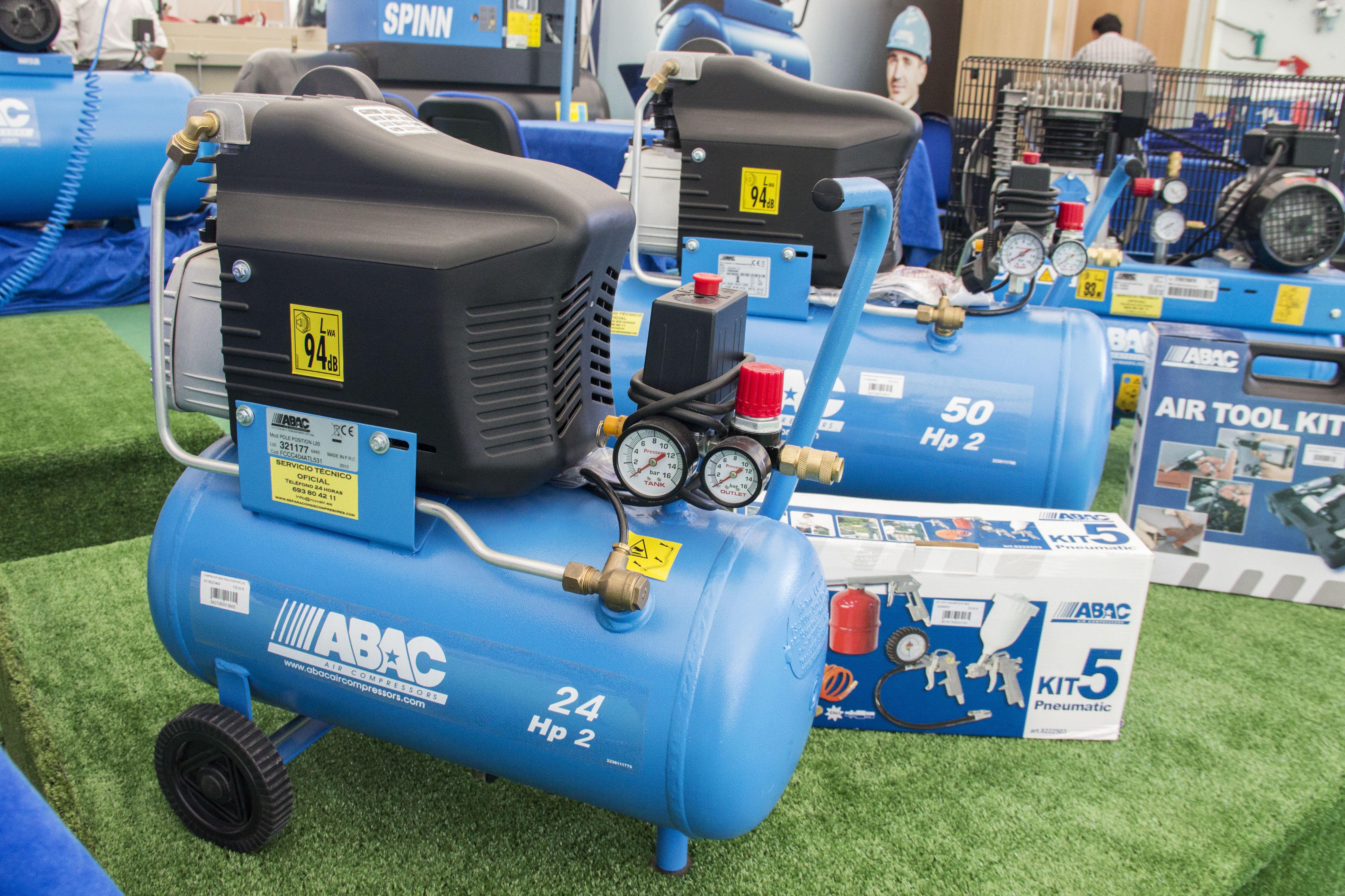 Compresores de piston que fueron expuestos en la feria Sepor 2015