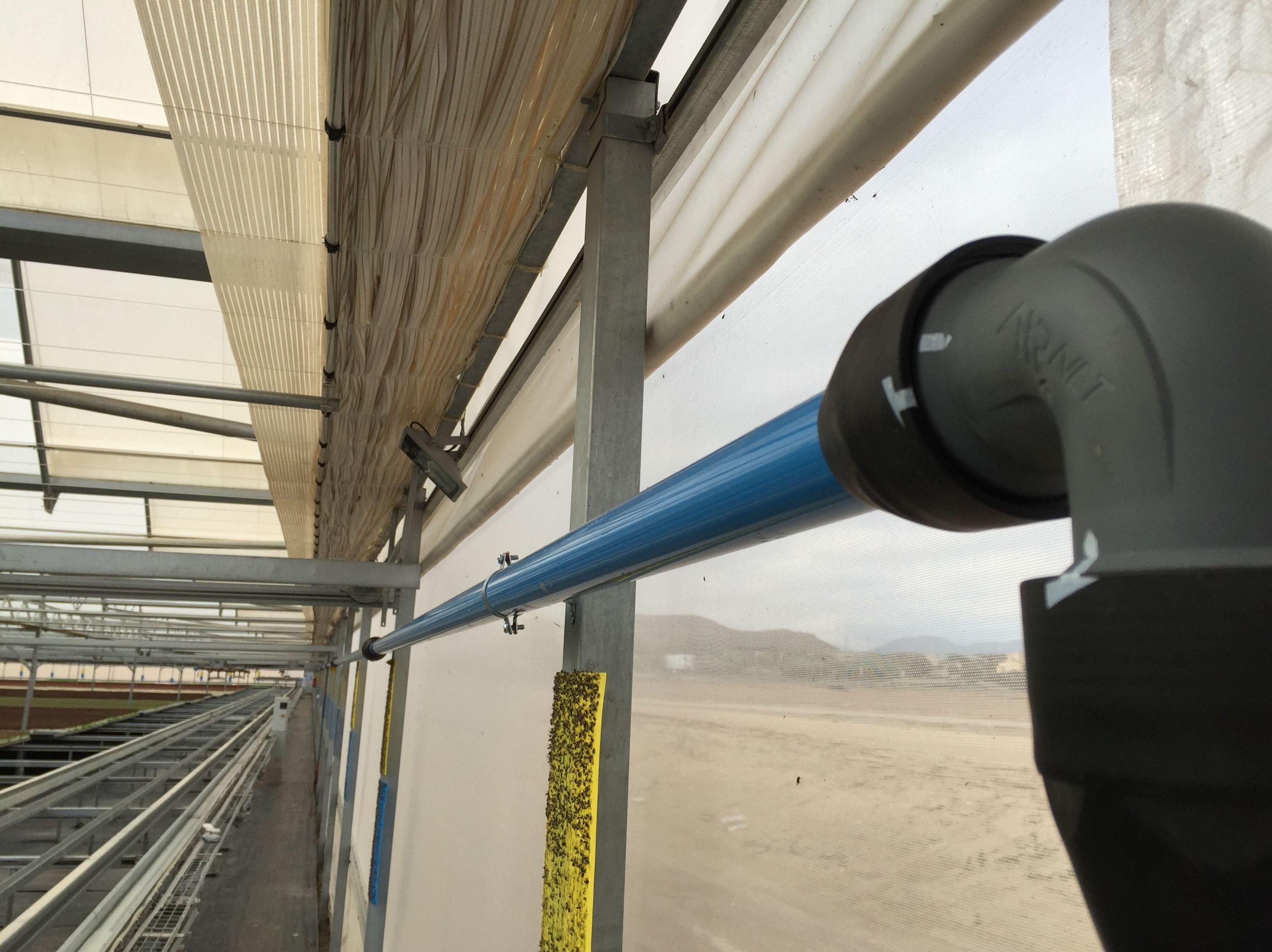 Instalacion de aire comprimido, para invernaderos automatizados