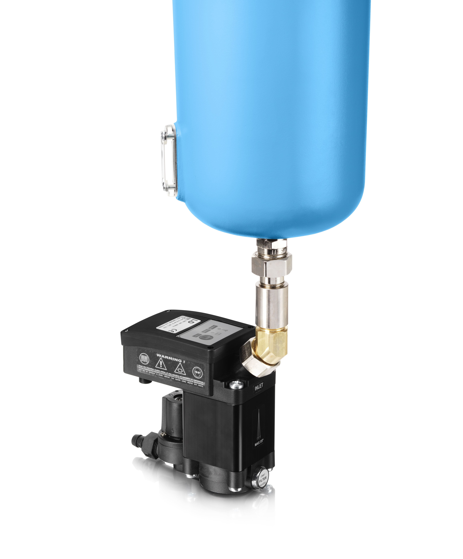 Purga capacitiva, solo descarga agua o liquidos