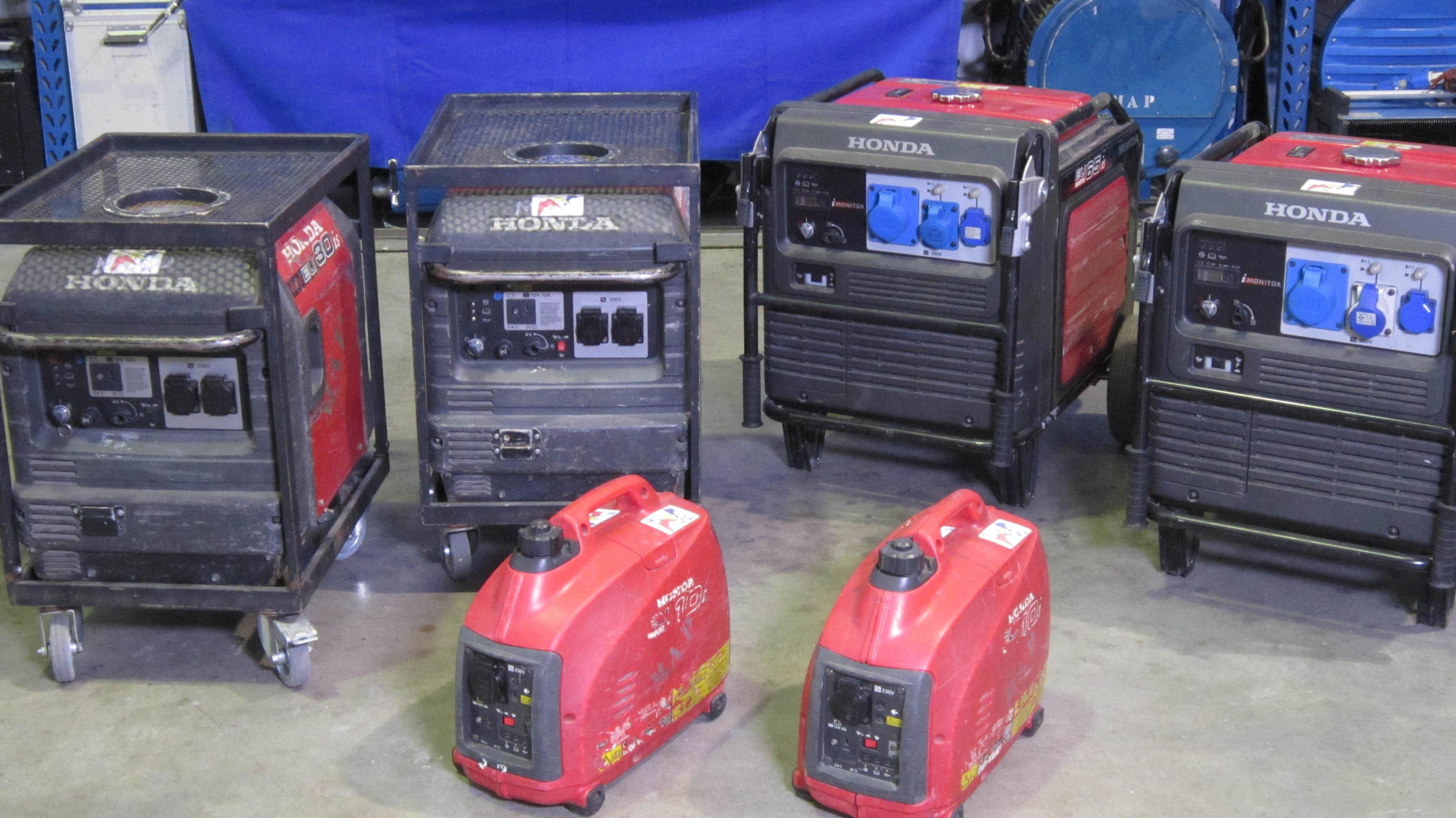 Grupos electrógenos en alquiler para montajes de iluminación