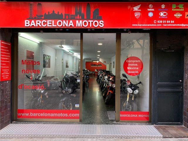 Concesionario de motos nuevas y de ocasión en el Eixample, Barcelona