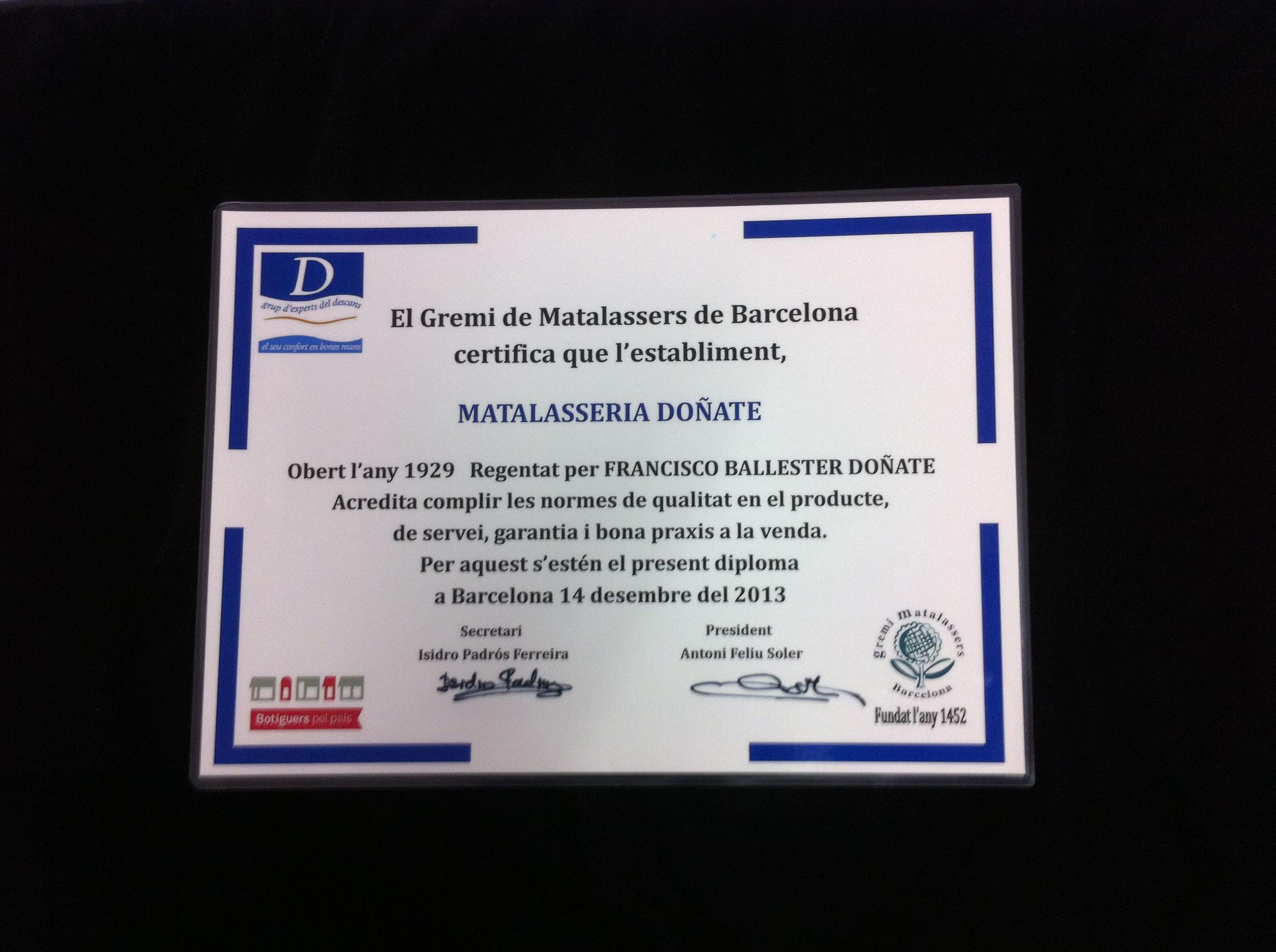 Colchonería de reconocido prestigio por su calidad a lo largo del tiempo en Santa Coloma de Gramenet