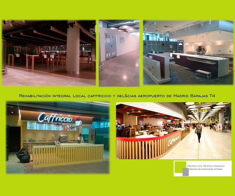 Rehabilitación integral de local de Caffriccio y Delicias en la T4 de Madrid
