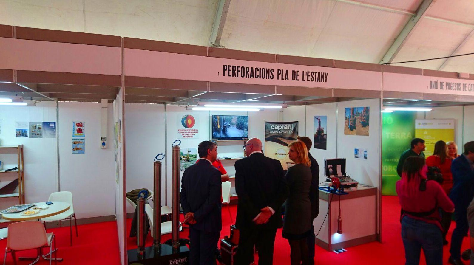 Expositor Perforacions Pla de L'Estany, Firagri 2017.