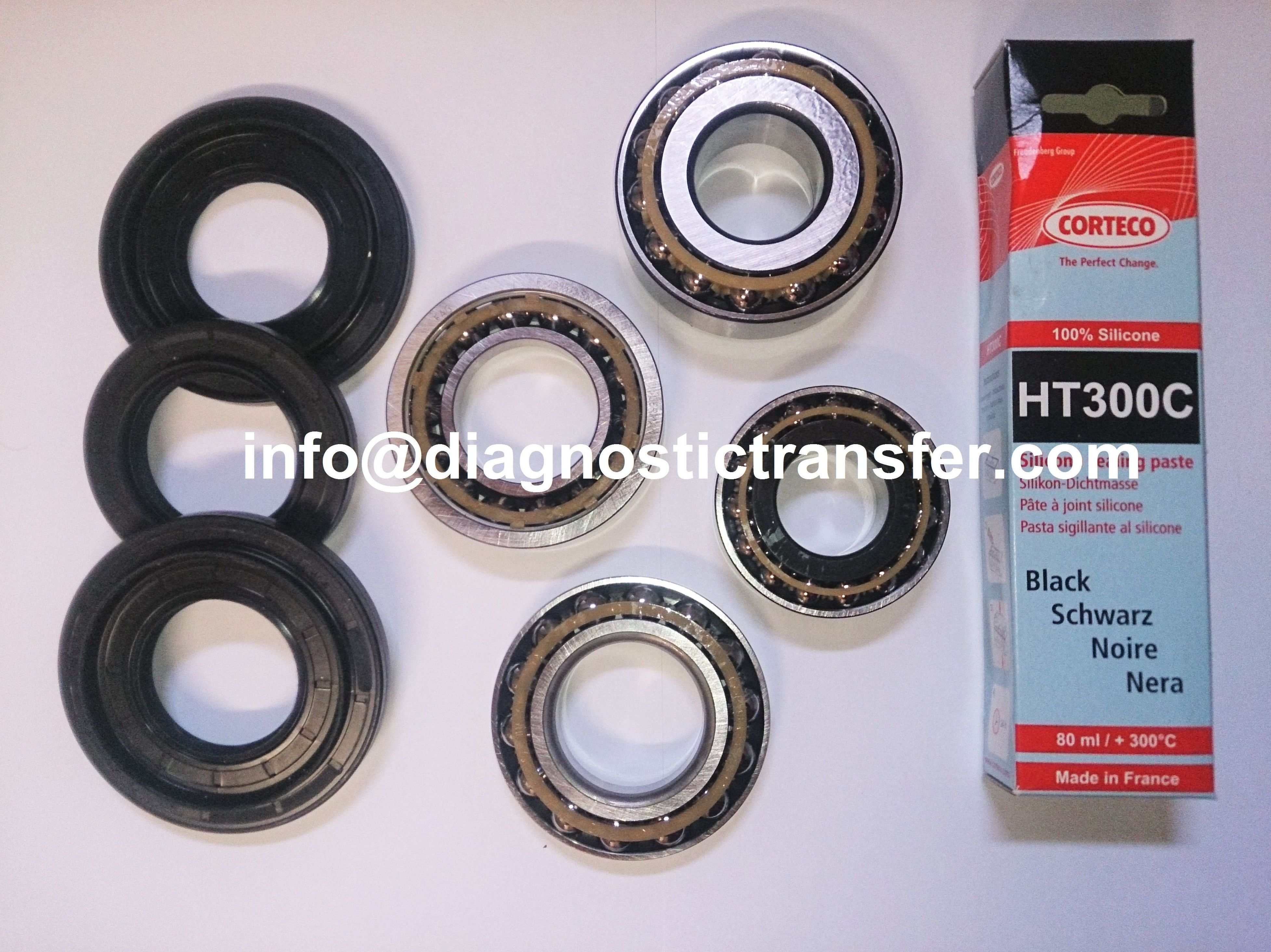 Kit diferencial BMW serie 1 formado por rodamientos, retenes y silicona HT300