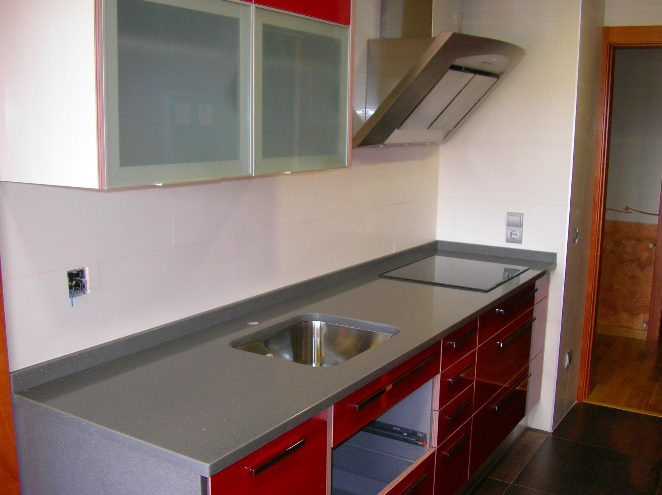 Encimera de cocina, Compac Quartz Silver