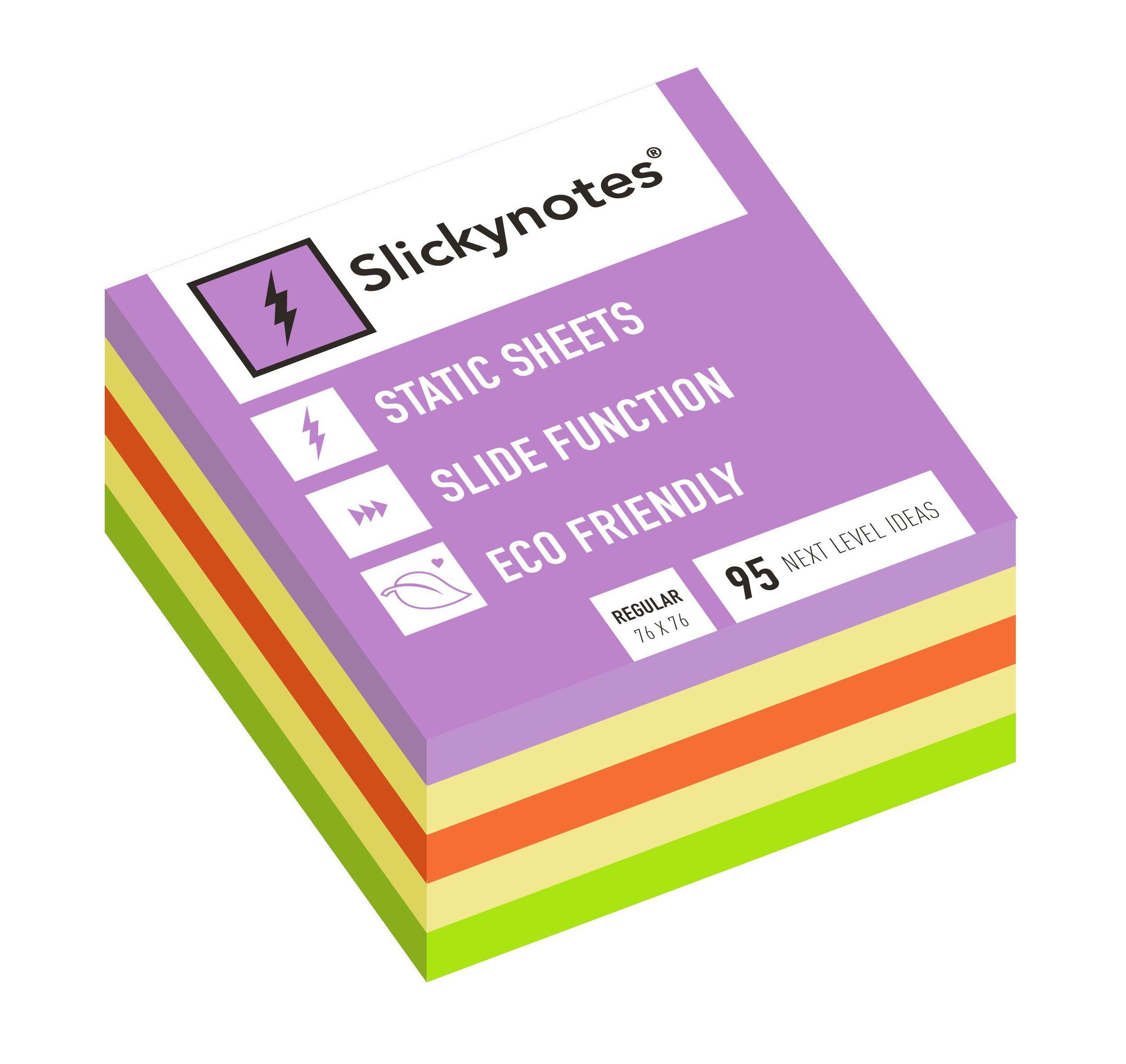 NR-5A - Pack 5 Slickynotes 76x76 mm Colores: Productos y Servicios de Rosan
