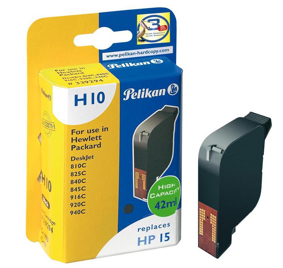 Cartucho PELIKAN para HP15 - C6615DE