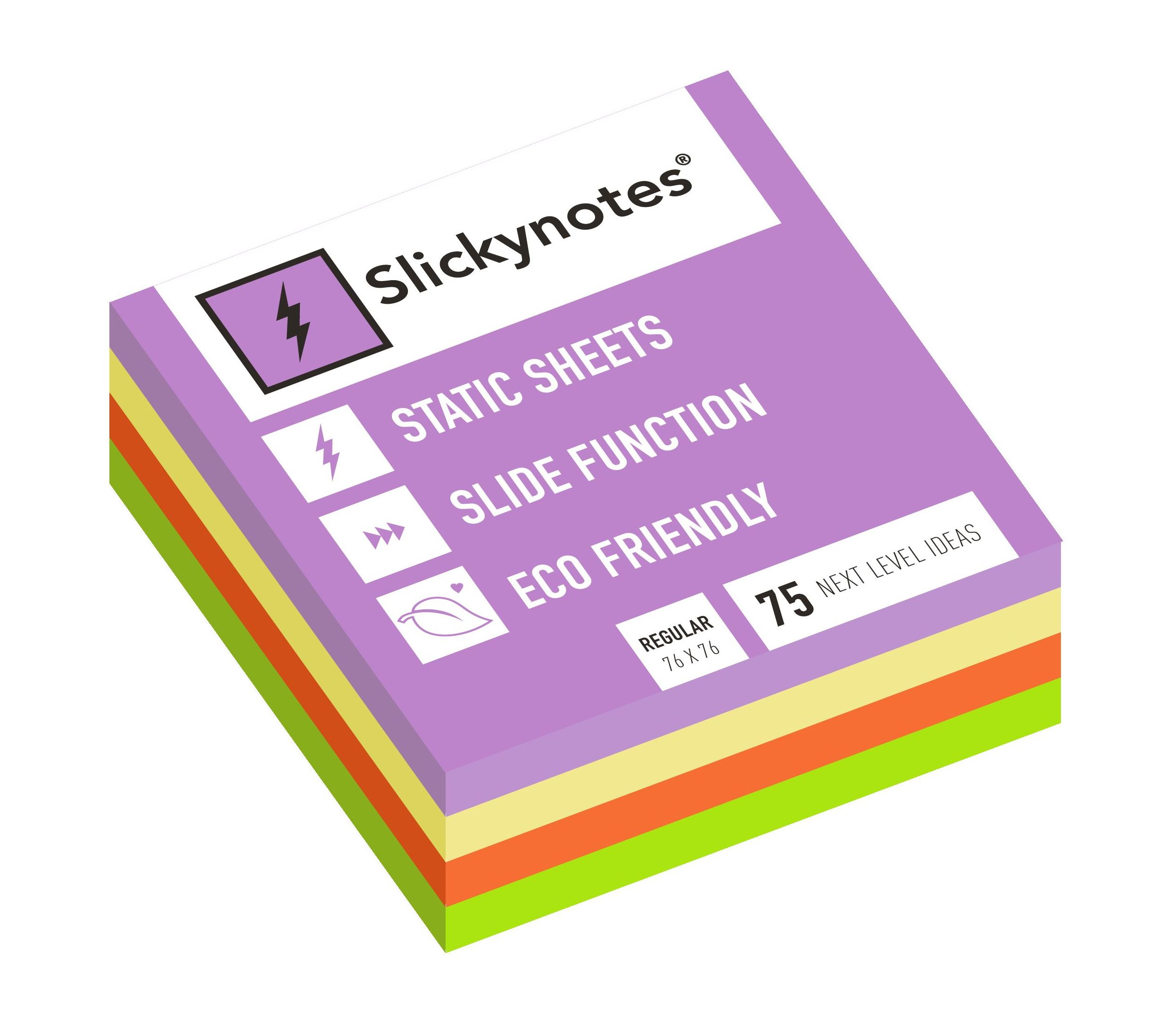 NR-4A - Pack 4 Slickynotes 76x76 mm Colores: Productos y Servicios de Rosan