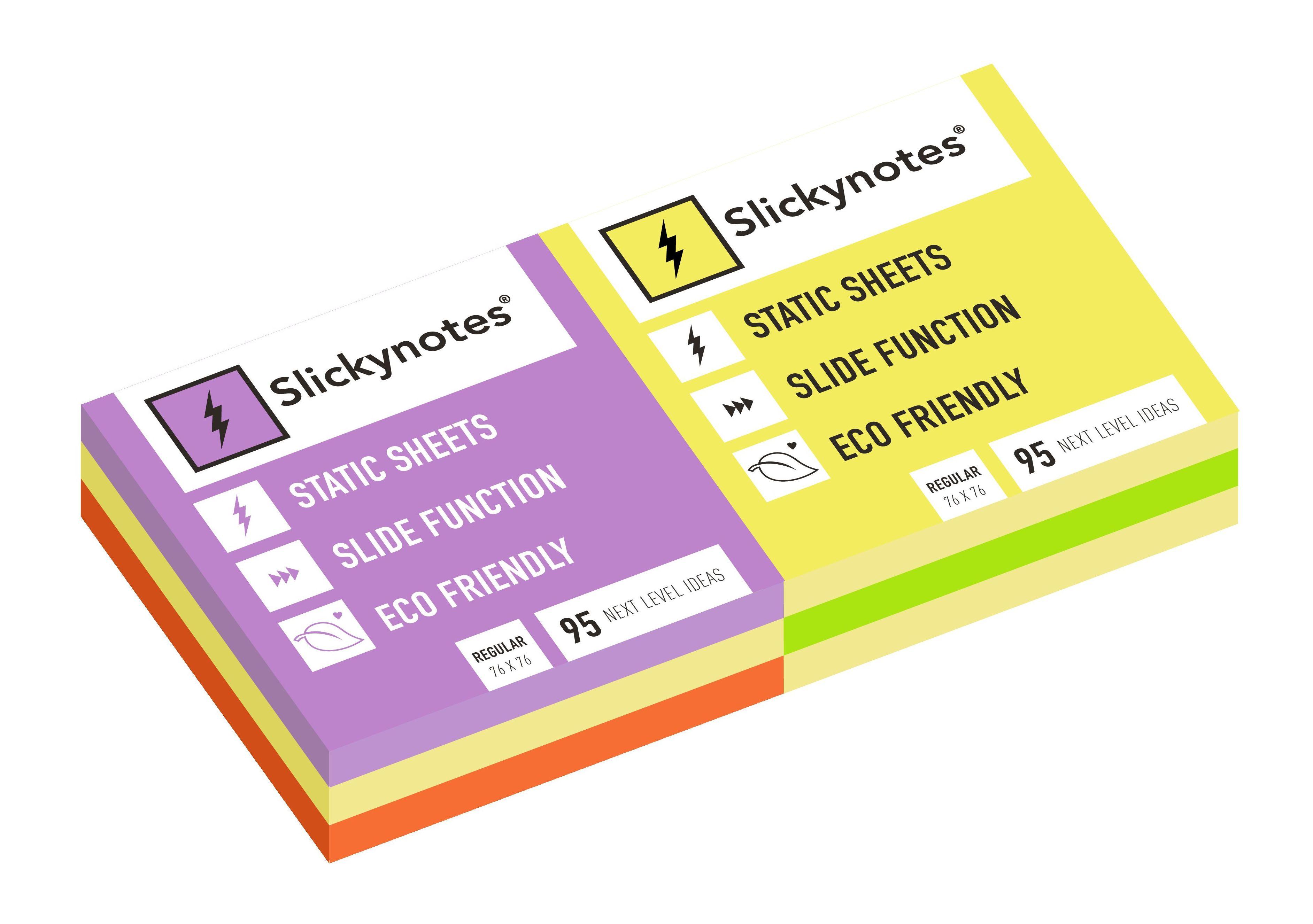 NR-6A - Pack 6 Slickynotes 76x76 mm Colores: Productos y Servicios de Rosan