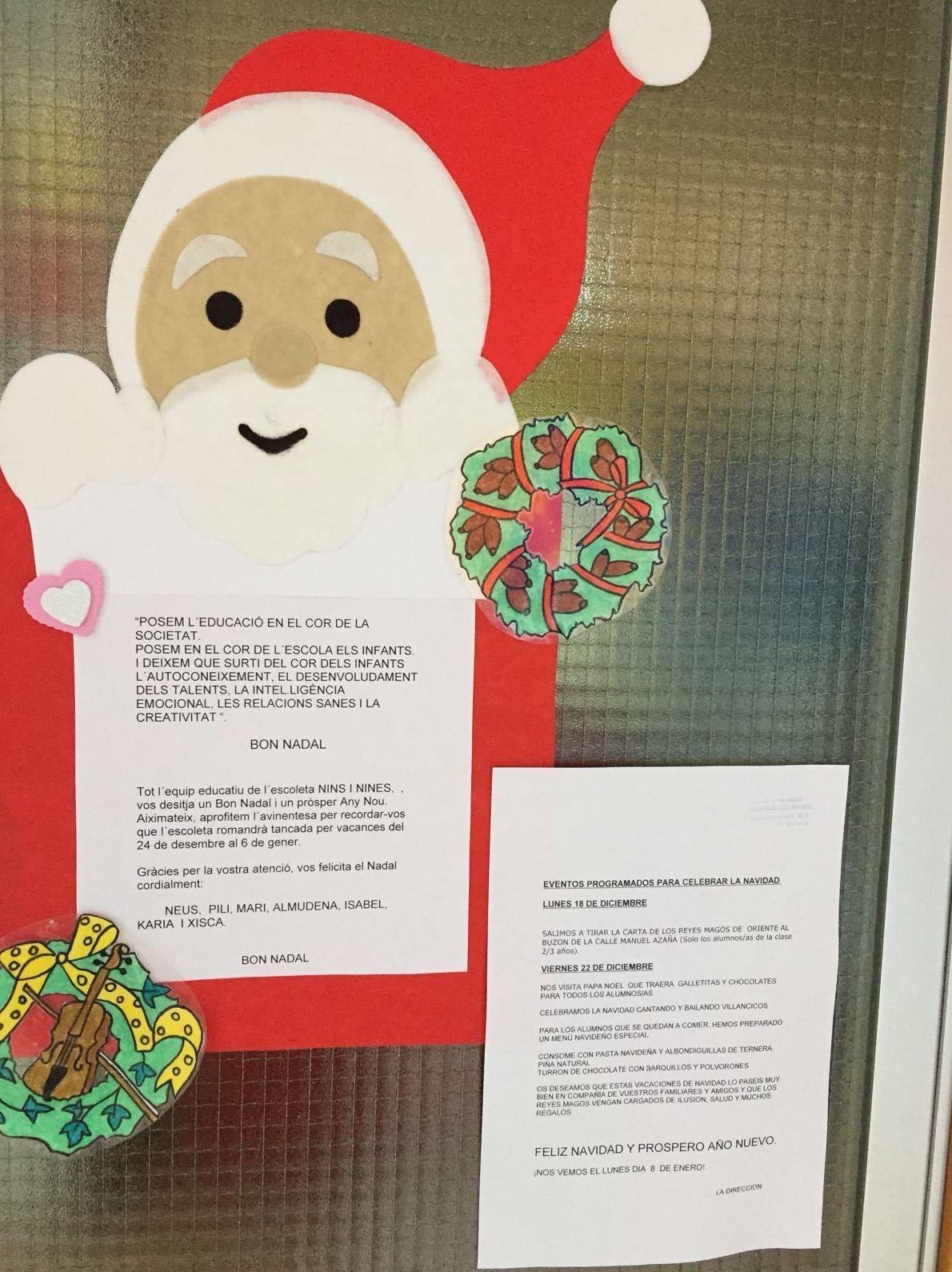 Nins I Nines os desea una Feliz Navidad: eventos 22 de diciembre.