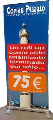 banner, Roll-up de 85 x 200 cms la forma mas facil de publicitar tu negocio o evento, y por solo 75 €