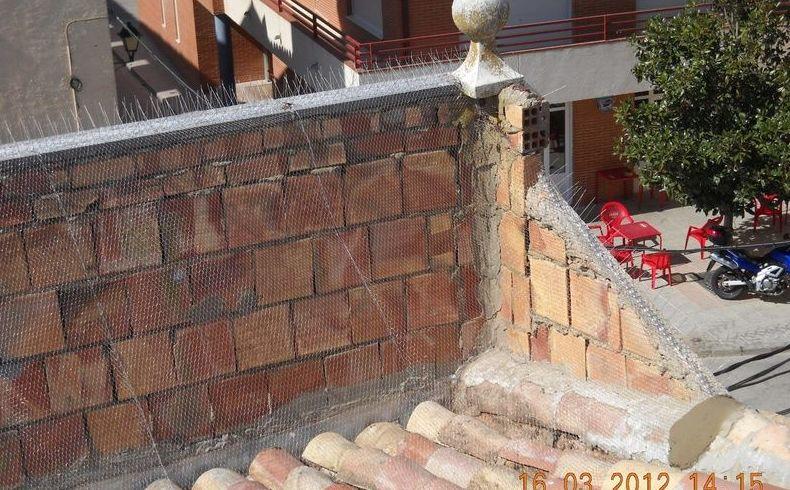 Trabajos de protección de fachadas
