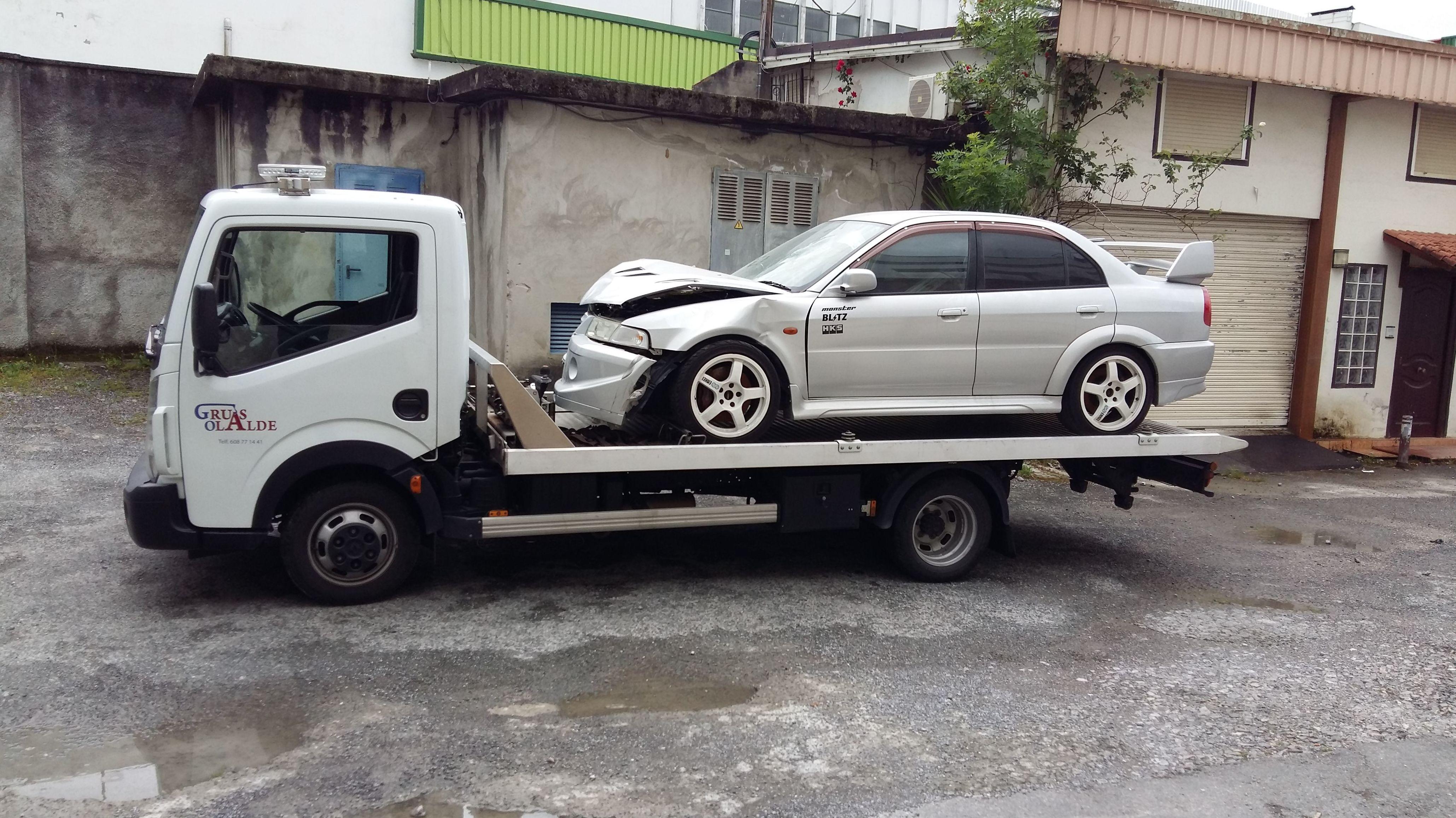 Foto 5 de Grúas para vehículos en Oiartzun | Grúas Olalde